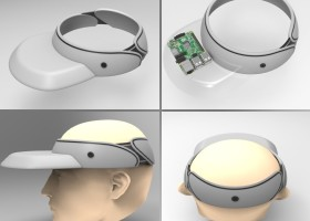 'vise-up': visor cap for sighted pedestrians with an add-on belt