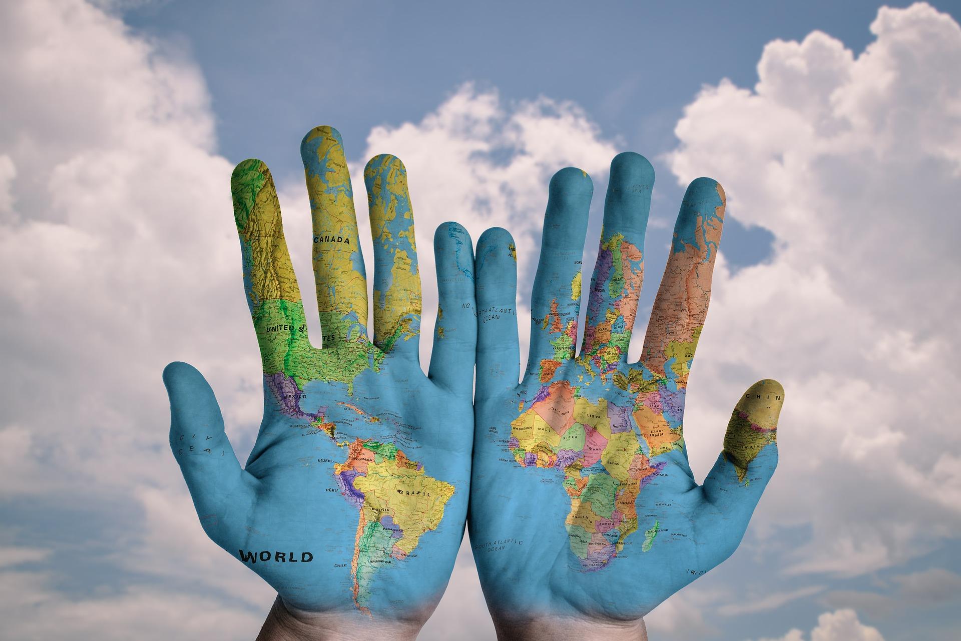 hands help change the world