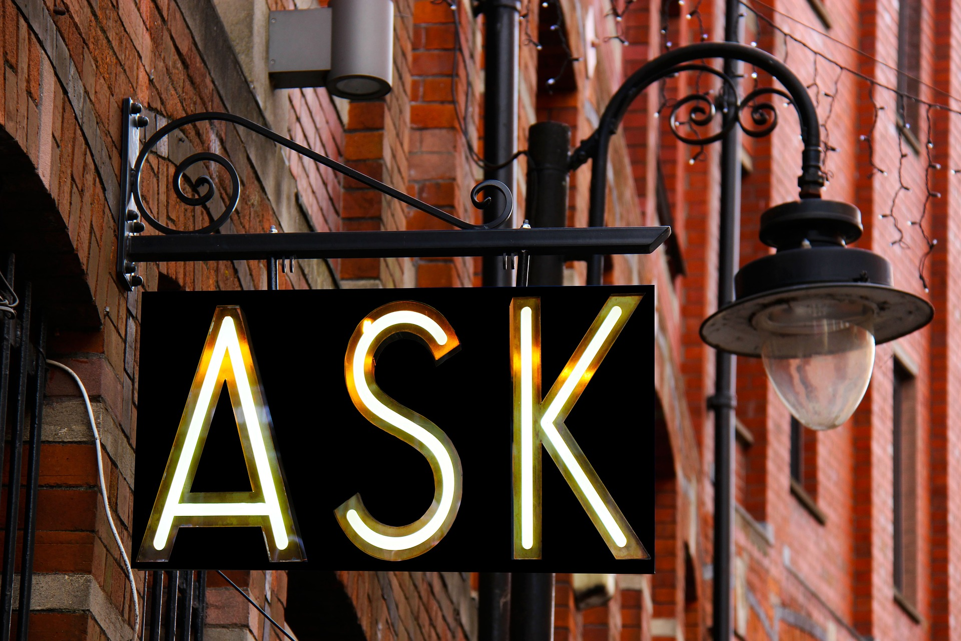 ask questions to make a change