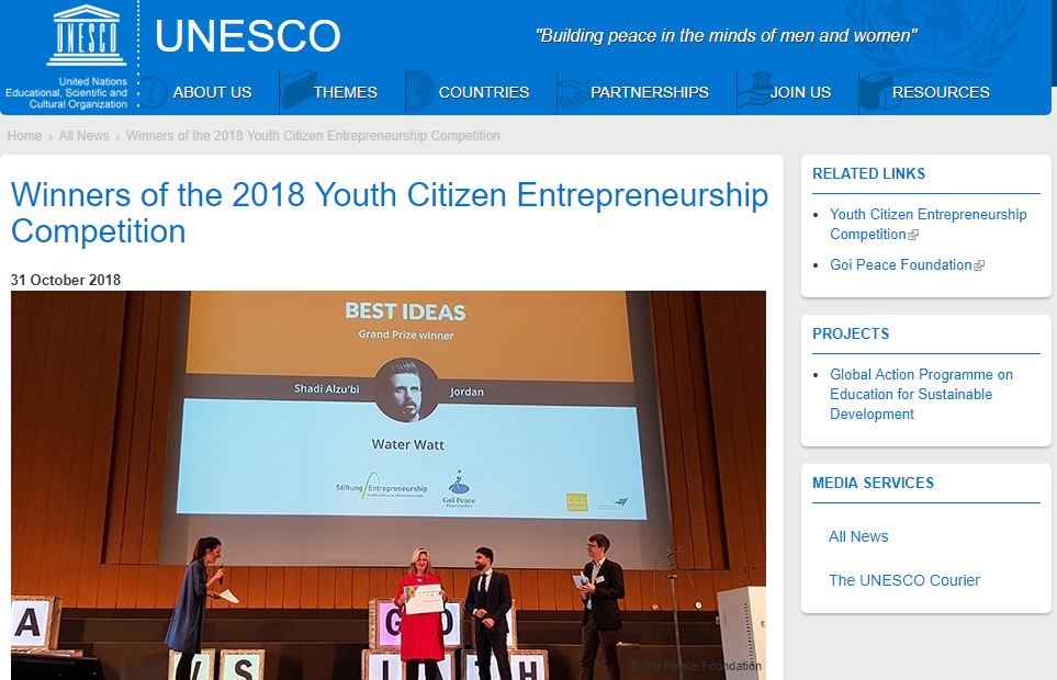 Youth Citizen Entrepreneurship Competition Winners UNESCO