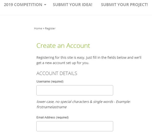 create an account Entrepreneurship Campus
