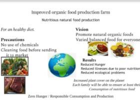 Improved organic food production farm