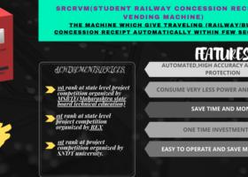 STUDENT RAILWAY CONCESSION RECEIPT VENDING MACHINE