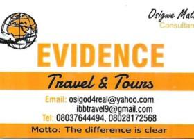 EVIDENCE TRAVEL & TOUR